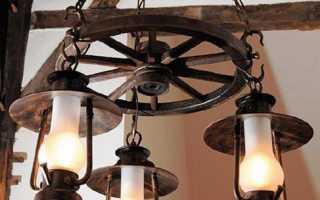 Освещение дома в стиле ретро