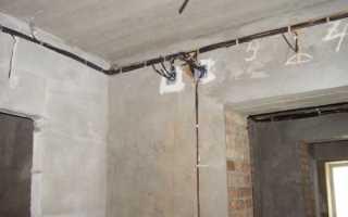 Как установить распределительную коробку в кирпичной, бетонной стене (схема)