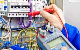 Измерение сопротивления изоляции электропроводки: мегаомметром 1000В