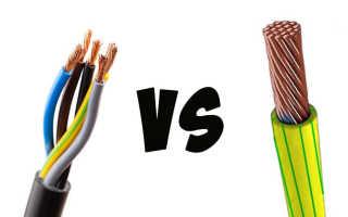 5 отличий кабеля от провода. Что лучше для проводки многожильный или одножильный.