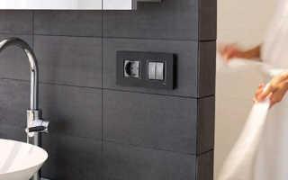 Розетка в ванной: подбор места и количества, монтаж