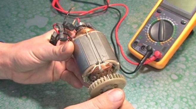 проверка электродвигателя мультиметром