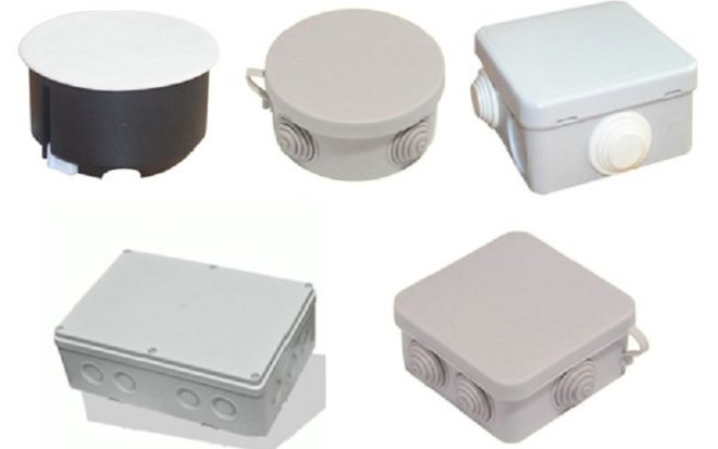 различные виды распределительных коробок