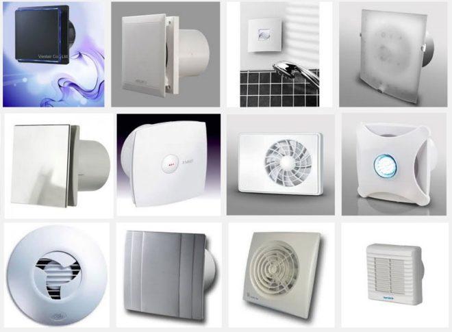 различные вентиляторы для ванной