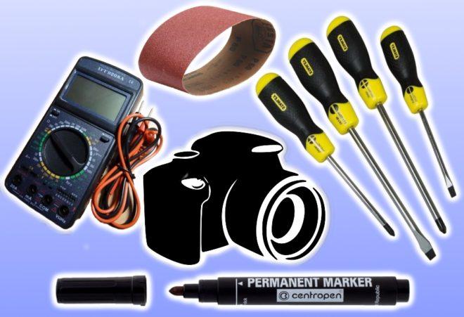Инструменты для ремонта выключателя
