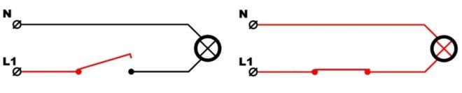 Принцип работы обычного выключателя