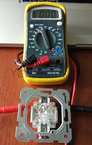 прозваниваем выключатель мультиметром