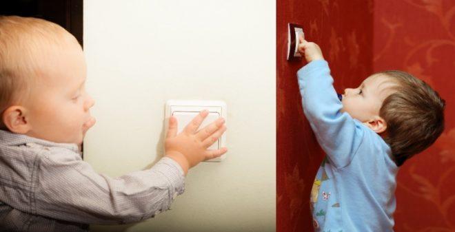 Выключатель доступный для ребенка