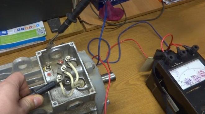 проверка изоляции обмотки двигателя мегомметром