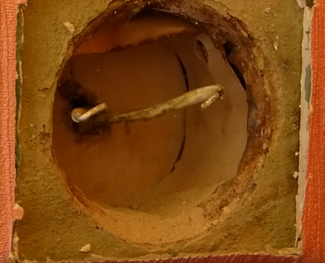 розетка демонтированна