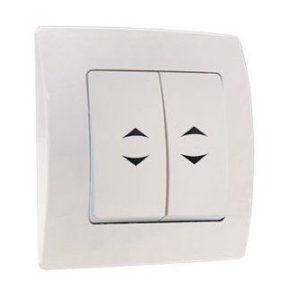 проходной двухклавишный выключатель без подсветки