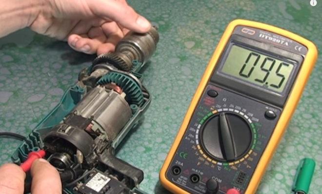 проверка коллекторного двигателя дрели