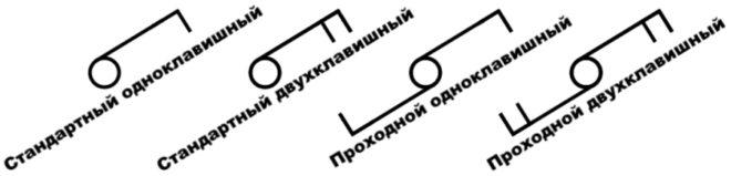 Проходной выключатель на схемах