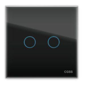 сенсорный проходной двухклавишный выключатель