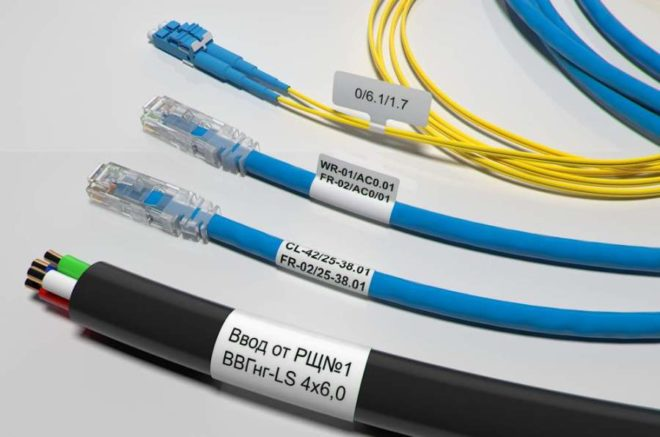 Метки на проводах