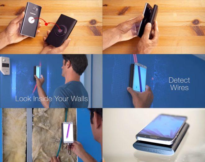 Поиск скрытой проводки с устройством Walabot DIY для смартфона