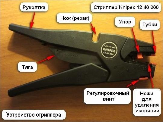 Автоматический стриппер Knipex 12 40 200