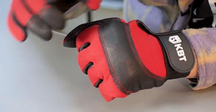 внешняя тыльная сторона перчаток КВТ С-33