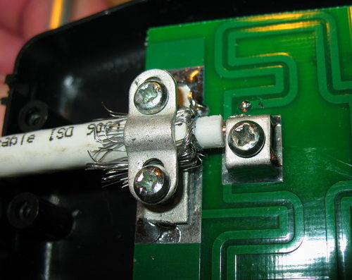 Подсоединение кабеля непосредственно к ТВ антенне