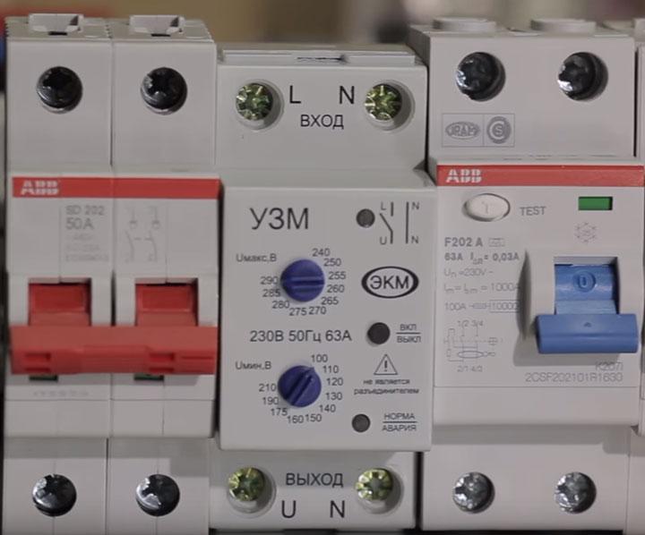 двухполюсный автомат ABB