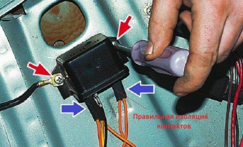Пример качественной изоляции контактов на реле