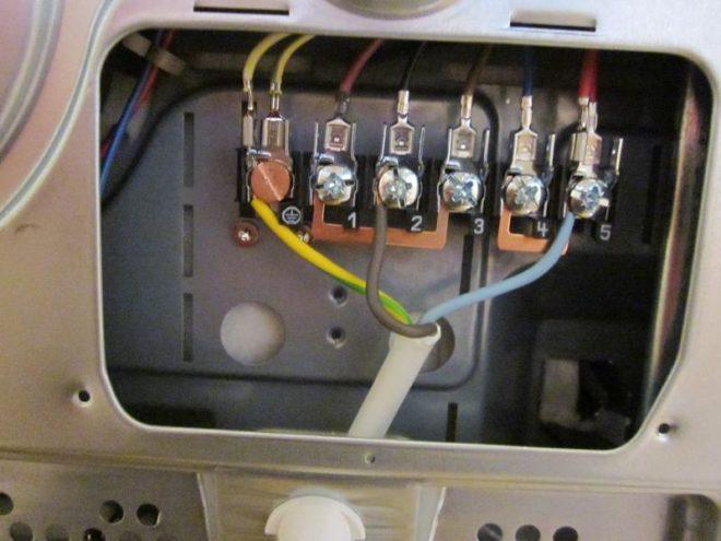 контакты электроплиты