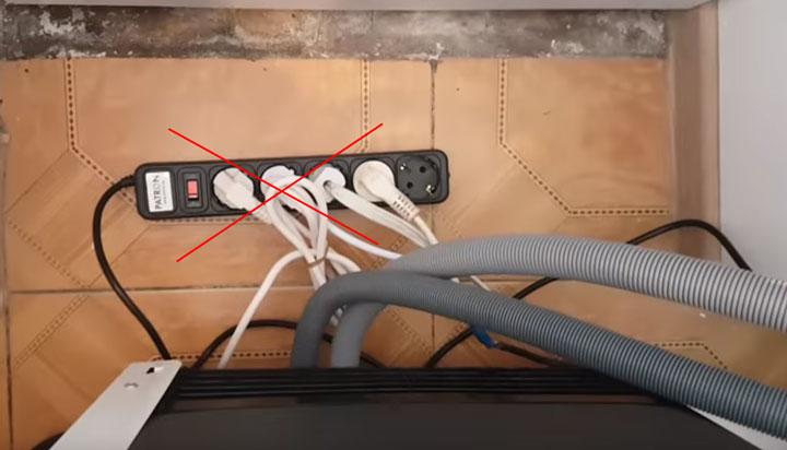 подключение посудомоечной машинки через удлинитель