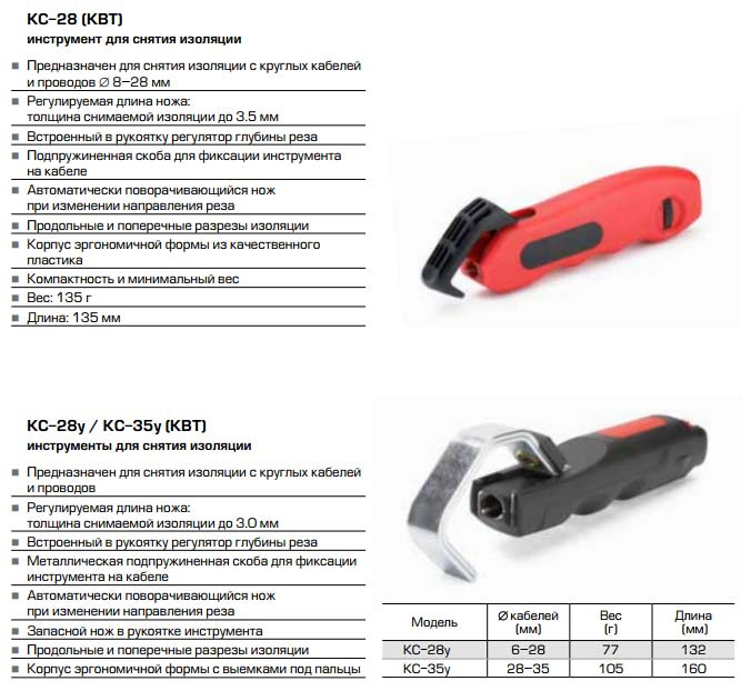 нож для снятия изоляции СИП от КВТ