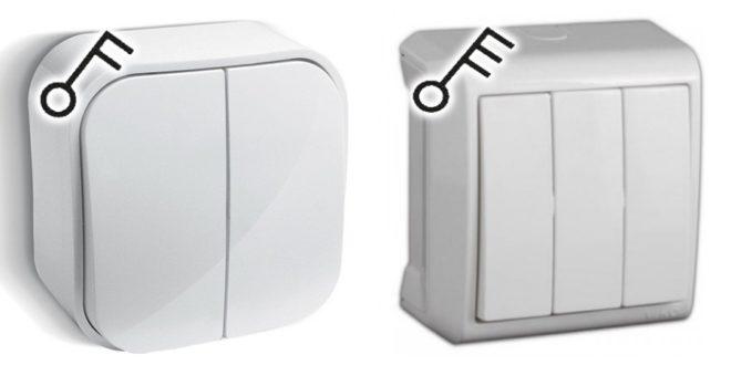 Двух и трехклавишные выключатели