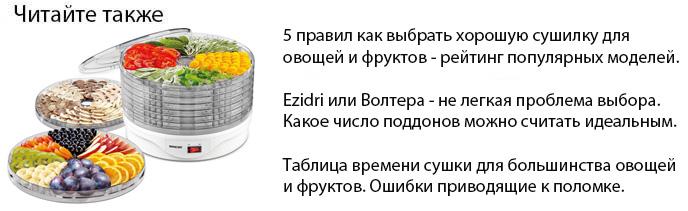 как выбрать хорошую сушилку для овощей и фруктов Ezidri или Волтера