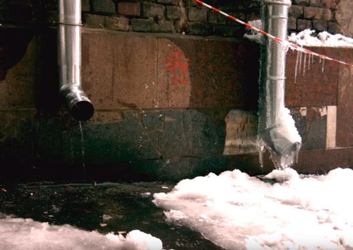 ошибки при обогреве водосточной трубы греющим кабелем