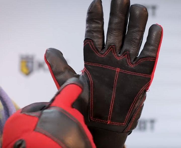 внутренняя сторона перчаток усиленных для тяжелых работ КВТ С-33