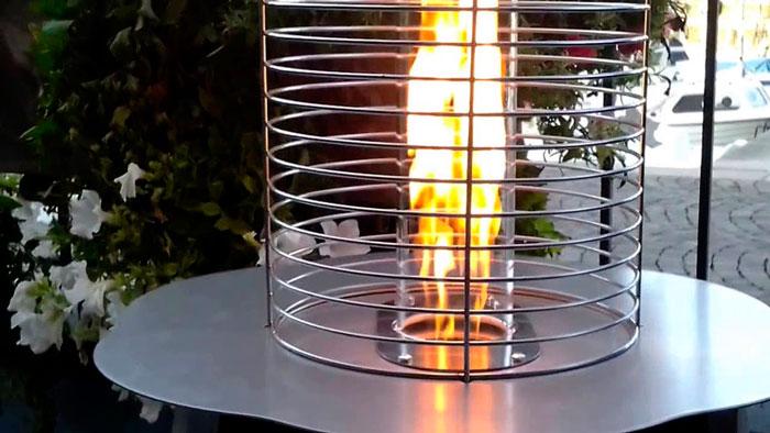 минимальное пламя горелки