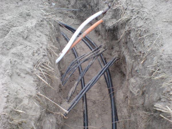 кабель СИП под землей фото