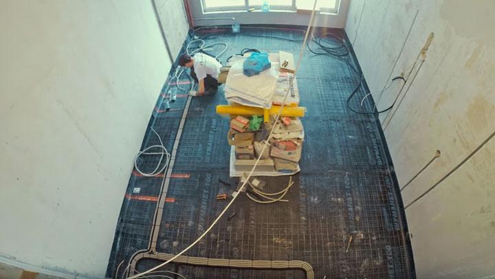 монтаж электропроводки по полу как правильно