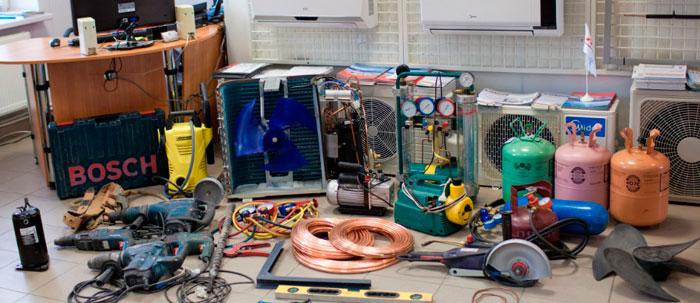 оборудование необходимое для установки кондиционера