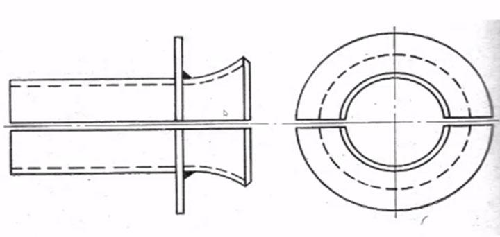 конструкция направляющей воронки для протяжки кабеля СПЭ через трубы