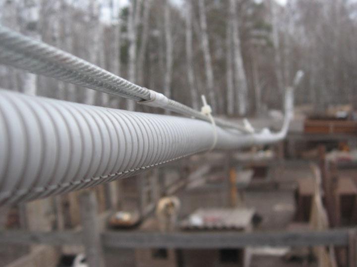 подвеска кабеля в гофре на улице какую гофру использовать
