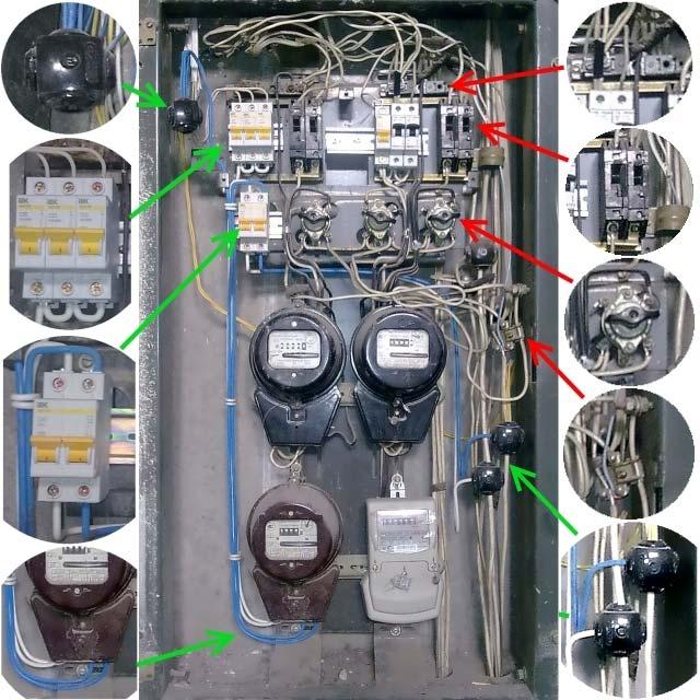 электрощитовая в подъезде многоэтажного дома