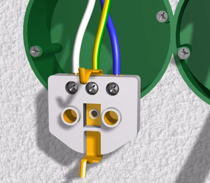 подключение проводов на розетке под плиту