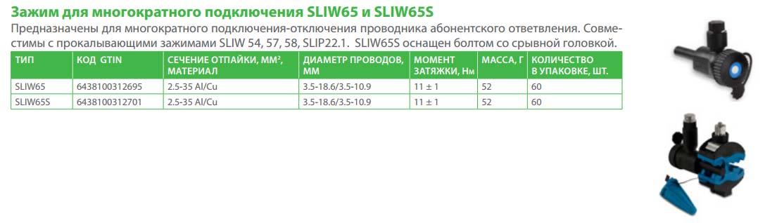 прокалывающий зажим для многоразового подключения Ensto Sliw 65,65S