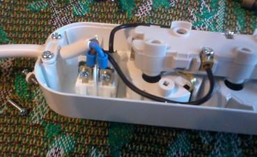 колодка электрического удлинителя