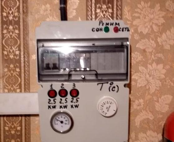 щиток с автоматикой системы отопления своими руками
