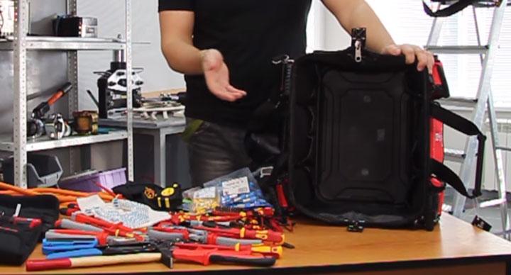 большой отсек для инструмента в сумке КВТ С-05