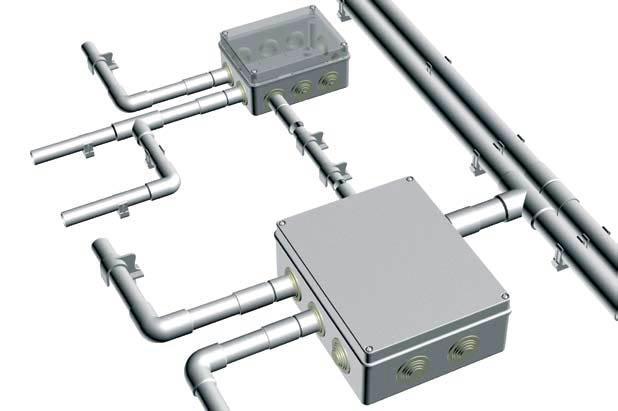 Прокладка кабелей в трубах ПВХ