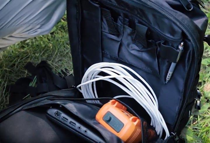внутренний отсек рюкзака КВТ С-08 для инструмента и ноутбука