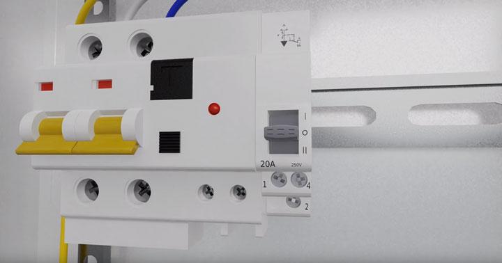 трехпозиционный выключатель в электрощитке