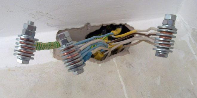 соединение медного провода с алюминиевым через болт с гайкой как правильно