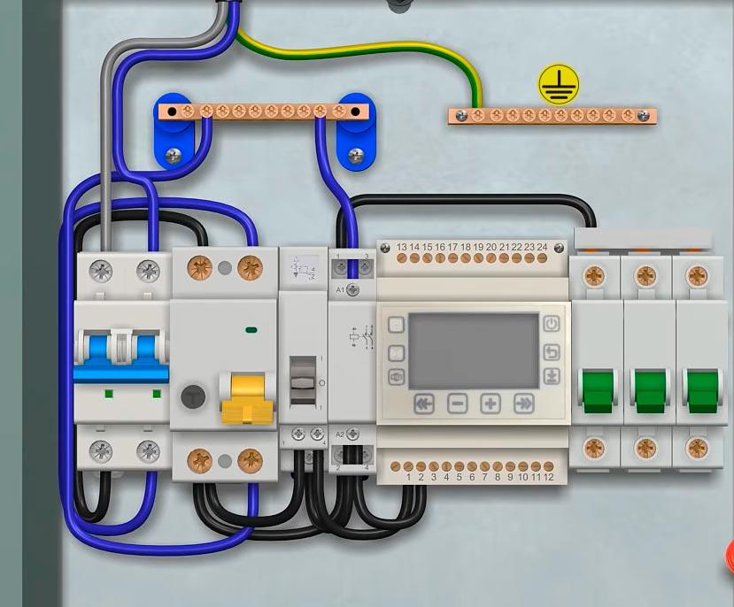 схема автоматики и аппаратура для подключения обогрева крыши и водостока дома