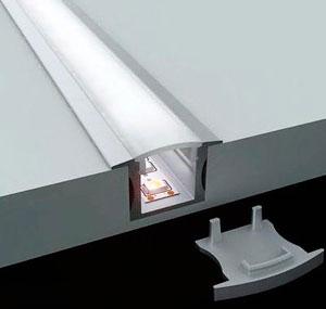 светодиодная лента внутри алюминиевого профиля